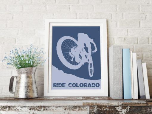 Ride Colorado Mountain Biker Print